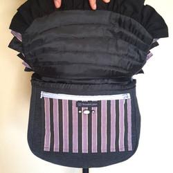 Bustle bag purple open