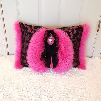 Pink butterflies Muffy vagina pillow 1