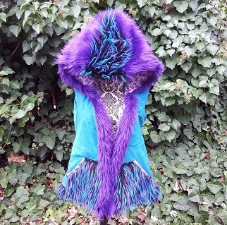 Purple blue hooded vest 1