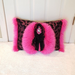 Muffy Pillow hot pink hellow kitty