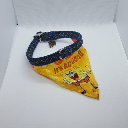 Dog Collar bandana SpongeBob
