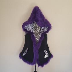 Purple hooded vest