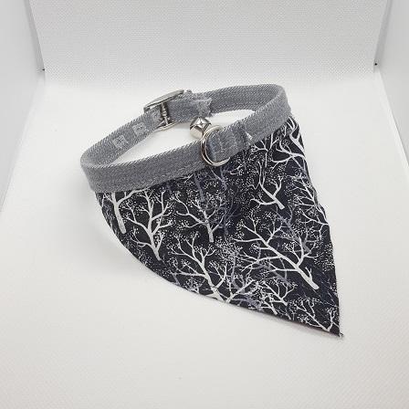 Dog Collar bandana trees