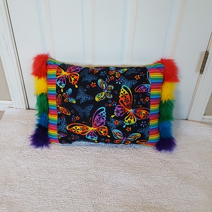 Upcycled comemorative pillow gay pride b
