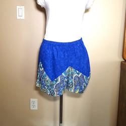 Balinese fabric skirt blue bindweed flow