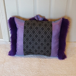 purple damask Muffy vagina pillow 2