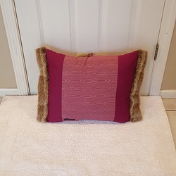 Muffy Pillow brown pink gack
