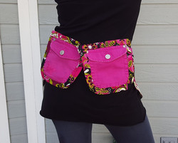 Pink Paisley Utility belt back