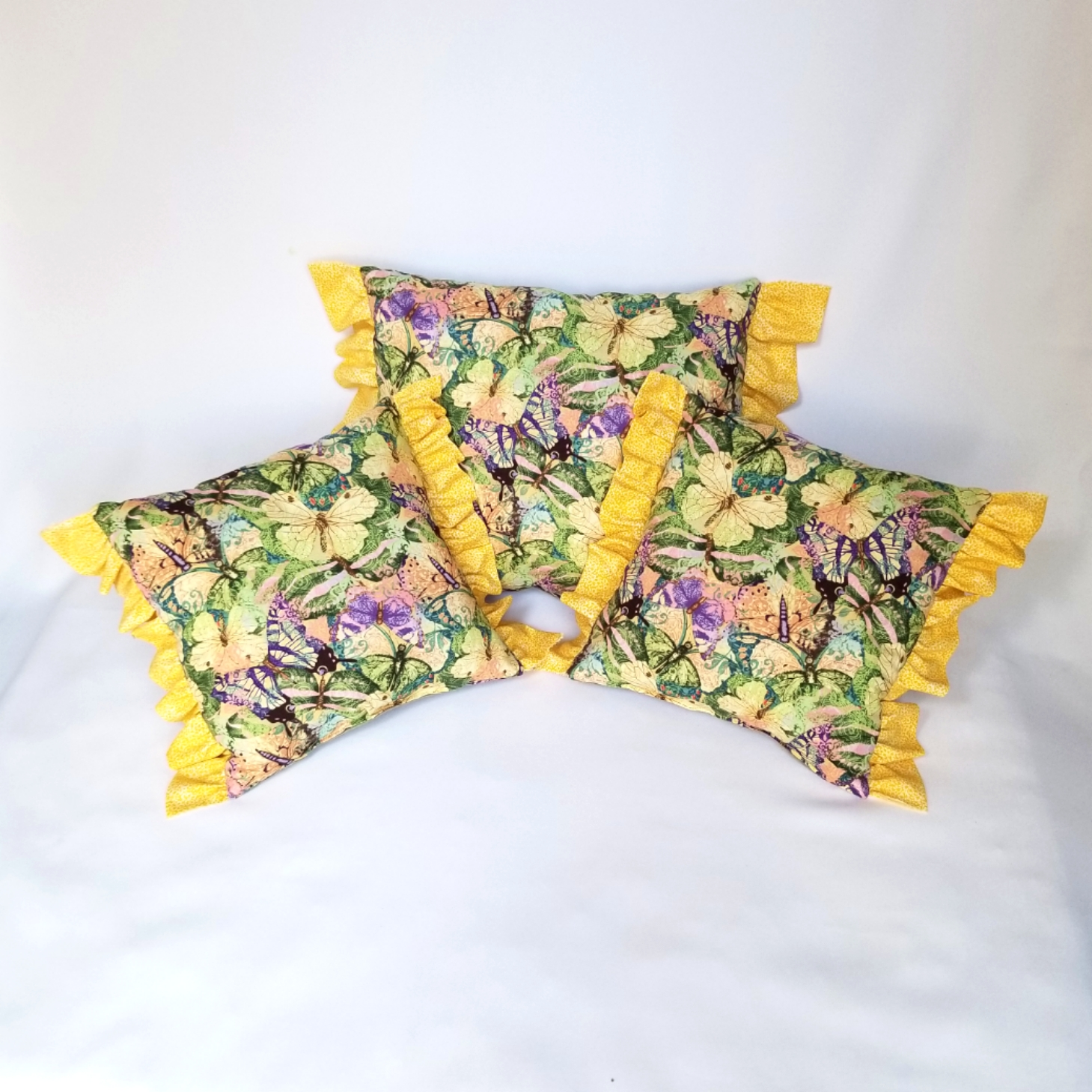 Throw Pillows garden butterfly