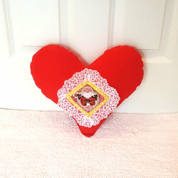 Heart Pillow with butterfly