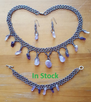 Amethyst crown set