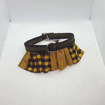 Dog Collar ruffle yellow