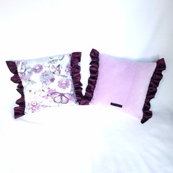Throw Pillows purple butterflies