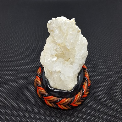quartz geode red brown black