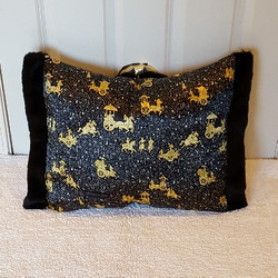 black and gold Muffy vagina pillow 2