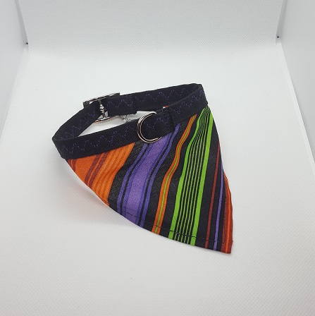 Dog Collar bandana electric stripes