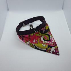 Dog Collar bandana pink paisley