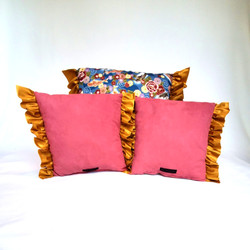 Throw Pillows koi fish back
