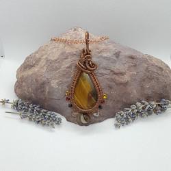 wire wrap tigers eye brazilian agate