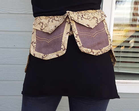 Soft Brown Utility Belt back