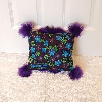 purple floral mini Muffy vagina pillow 2