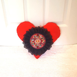 Heart Pillow with mandala