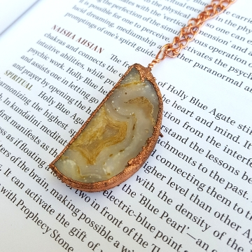 Electroformed pendant necklace yellow ag