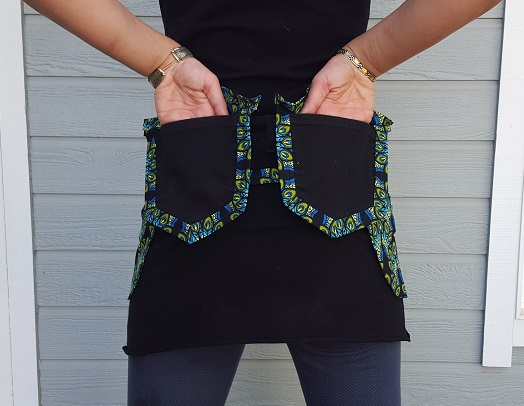 Black Peacock Utility Belt back