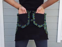 Black Peacock Utility Belt back