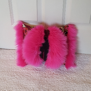 Pink paisley mini Muffy vagina pillow 1.