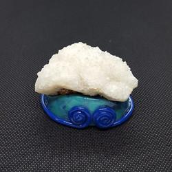 quartz blue spiral