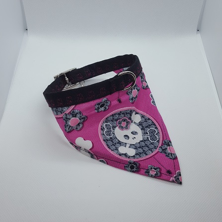 Dog Collar bandana skulls