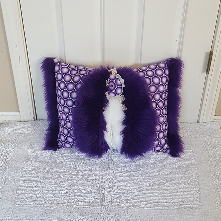 Muffy Pillow purple front