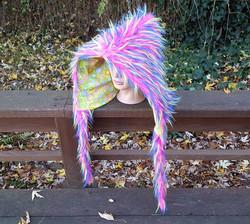 Short pink spike hood 2