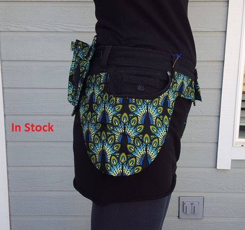 Black Peacock Utility Belt side