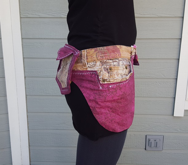 Pink Snowflake Utility Belt side