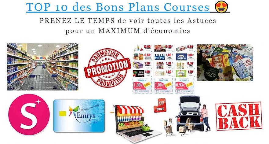 TOP 10 des Bons Plans Courses, courses gratuites, emrys la carte courses gratuites, ben hkimo emrys