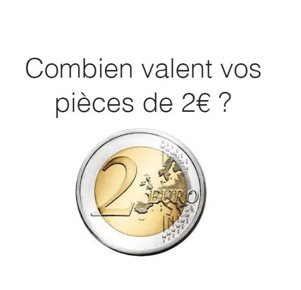 Valeur des pièces de  2€