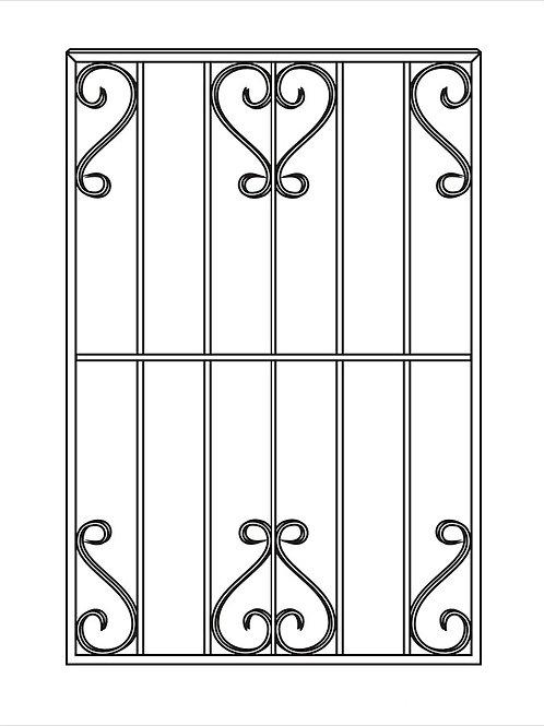 Сварная решетка арт 004.