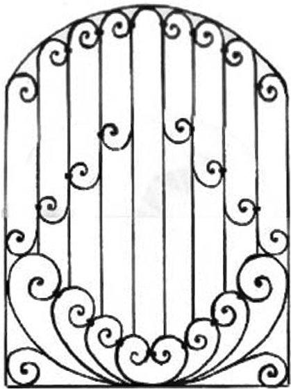 Кованая решетка арт 017.