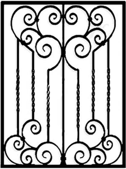 Кованая решетка арт 035.