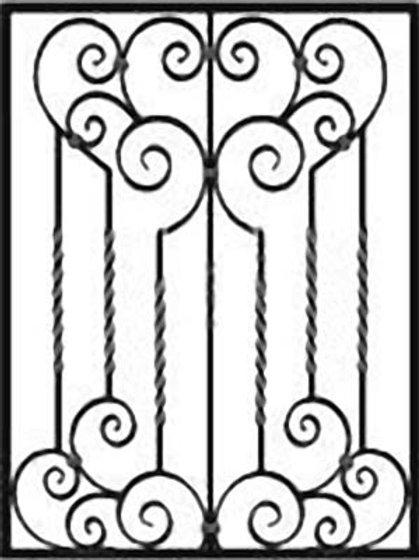 Кованая решетка арт 011.
