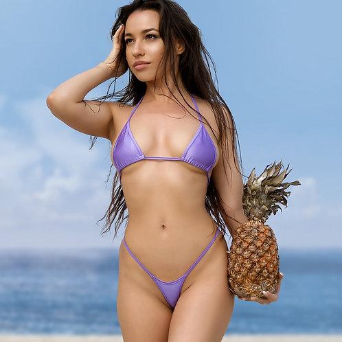 Hot crotchless thong micro bikini bottom top Extreme erotic lingerie. Cheeky sexy stripper set panties bra High leg swimsuit