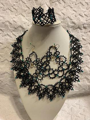 Fivrolite jewelry set