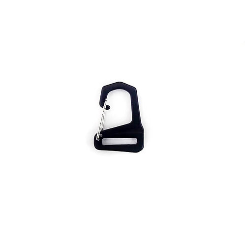 Clip Hook 20 mm black aluminum