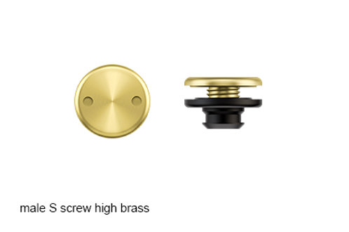 SNAP male S screw brass high