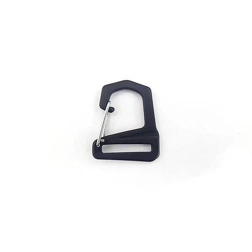 Clip Hook 25 mm black aluminum