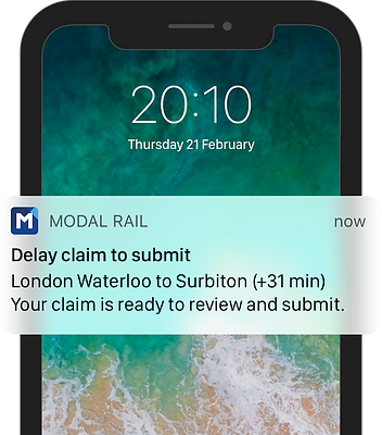Claim to submit notification - iPhone X