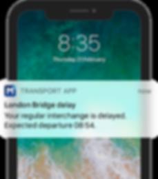 Interchange delay notification - iPhone