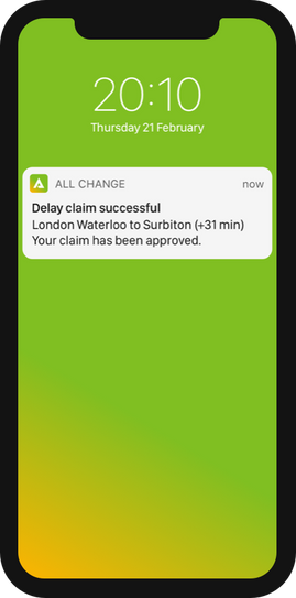Delay claim successful - iPhone X plain